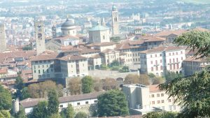 "View of Bergamo from the ""berg"""