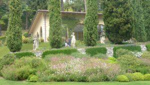 Amazing gardens at Villa del Balbianello at Lenno