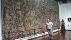 Massive tapestry in museum