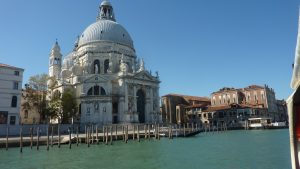 View of St Mark's Cathedral across the Grand Canal