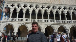 John standing in front of Palazzo Ducale