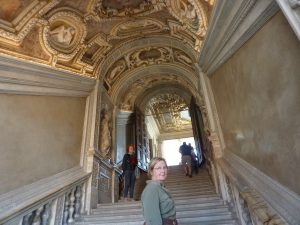 "Inside the Palazzo, Christine on the ""Golden Staircase"""